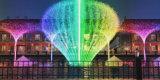 LED 가벼운 장식적인 디지털 그네 호수 뜨 샘