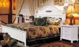 Hölzernes Bett, doppeltes Größen-Bett, Amerika-Art Ikea gehen zu Bett (1606)