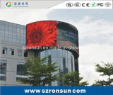P6mm impermeabilizan la publicidad de la visualización de LED al aire libre a todo color de la cartelera