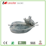 Figurine encantador do Birdbath de Polyresin para ornamento do jardim