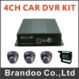 最も安い3G 4チャネル車DVRの128GB SDのカードを使用、4台のカメラ