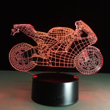 Lampe de nuit de la moto DEL du Tableau 3D