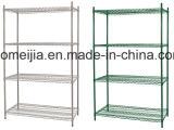 Shop&#160のための層の金属線の棚; 表示