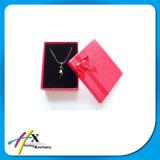Rectángulo de regalo de empaquetado de la joyería de papel de encargo popular del item