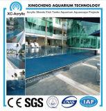Estilo 2017 da piscina acrílica no verão com painel acrílico