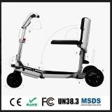 Der einfache Arbeitsweg, der elektrischen Mobilitäts-Roller, Stadt-elektrischen Roller, Roller als Gepäck faltet, arbeiten elektrischen Roller um