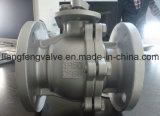robinet à tournant sphérique d'extrémité de 2PC Flang rf avec l'acier inoxydable