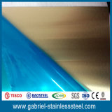 L'acier inoxydable balayé par pente en métal du SUS 304 de bonne qualité couvre la plaque pour des murs