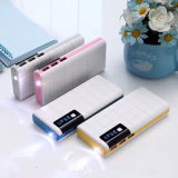 3-USB Portable Travel 10000mAh Power Bank pour iPhone Android