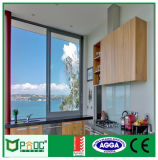 Graue Farben-schiebendes Aluminiumfenster und Tür Pnocpi002