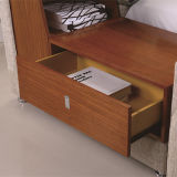 2017寝室セット(FB8043A)のための最新のデザイン革ベッド