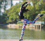 Alta qualità di stampa del fiore più le ghette strette di yoga di formato