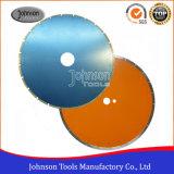 a telha cerâmica de 105-350mm viu as lâminas com o entalhe de J para a estaca molhada do diamante
