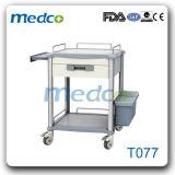 Trole do tratamento do carro do instrumento médico do ABS do hospital