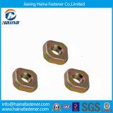 Noix jaunes de noix carrées d'acier du carbone de plaque du zinc DIN562 petites