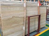 Pierre en bois d'or/beige de marbre de veine pour la tuile de /Wall d'étage