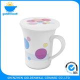 Súper diseño impreso taza de cerámica con tapa