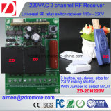 commutateur à télécommande de 2channel 1000m rf 220V/12V/24V