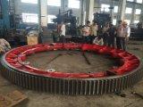 Engranaje de la circunferencia de la fuente para el equipo de la industria de la mina del horno rotatorio