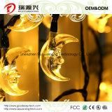Lumières solaires de chaîne de caractères de lune pour extérieur, Wedding, fête de Noël (jaune)