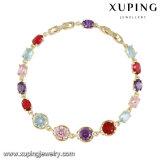 Bracelete cúbico colorido do Zirconia de 74643 formas para meninas das mulheres