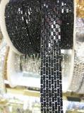 2017의 Hotfix Weddingdress (TS-021)를 위한 수정같은 모조 다이아몬드 사슬 아플리케 레이스 리본 손질에 모조 다이아몬드에 의하여 구슬로 장식되는 사슬 철