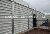 Barracas provisórias ao ar livre do armazém da barraca de T&C com a parede do sólido do ABS
