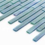 Vidrio de mosaico manchado Backsplash azul del azulejo de la cocina del subterráneo