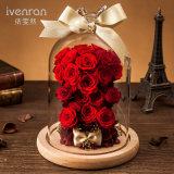 Flor de la Navidad de la boda en el vidrio para el regalo