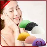 Éponge faciale konjac normale chaude du Japonais 100% de vente/éponge cosmétique faciale