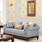 居間の家具のためのPUによって装飾されるアメリカのソファーセット