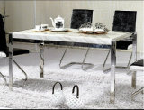 贅沢な大理石のダイニングテーブルの製造業者