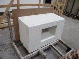Countertops ванной комнаты чисто белого кварца твердые поверхностные каменные