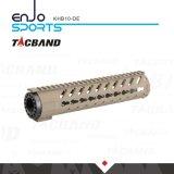 Tacband super leichter freier Gleitbetrieb Keymod 10 Spitzenschienen-flache dunkle Masse der Zoll Handguard Schienen-W/Picatinny