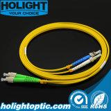 Patchcord de fibra óptica Fca al amarillo unimodal a dos caras del St 3.0m m