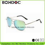 Frame masculino popular do metal dos vidros de Sun dos aviadores dos óculos de sol para o homem