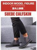 Echtes Leder-Männer Laceless lädt Schuhe auf