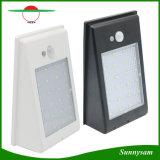 Diodo emissor de luz solar energy-saving impermeável sem fio da lâmpada 24 do produto ao ar livre da iluminação luz solar da parede do sensor de um Montion de 400 lúmens
