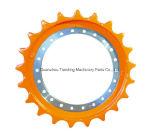 Material personalizado máquina escavadora da esteira rolante da roda dentada dos elementos da borda do segmento da roda dentada
