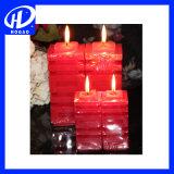 تجميع 3 عمود شمعات قيمة حزمة, أحمر
