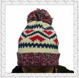 Sombrero hecho punto armadura de la gorrita tejida con el paño grueso y suave dentro del sombrero del invierno para las muchachas (1-3469)