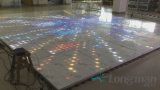100pixel comitati acrilici del Portable 3D LED Dance Floor per la cerimonia nuziale