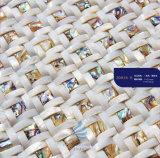 Shell van juwelen het Witte Vierkante Natuurlijke Bouwmateriaal van het Mozaïek