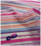 Tissu de polyester d'organza, pistes colorées