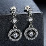 Brincos de jóias AAA Zircon Round Long Earrings for Women