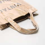 Transparente PVC Kraft Paper Opening Closure Handbag (K002)