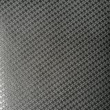 El cuero Z-Shaped grabado de la PU de Microfiber del ante para los zapatos empaqueta (HS-M1702)