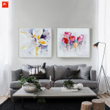 Peinture à l'huile Aquarelle Tulip et Lily Canvas