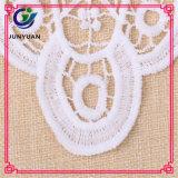 Связанный ворот шнурка цветка шнурка вязания крючком швейцарский