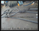 Ungalvanized Hand Spliced ​​Heavy Duty Steel Wire Rope Sling